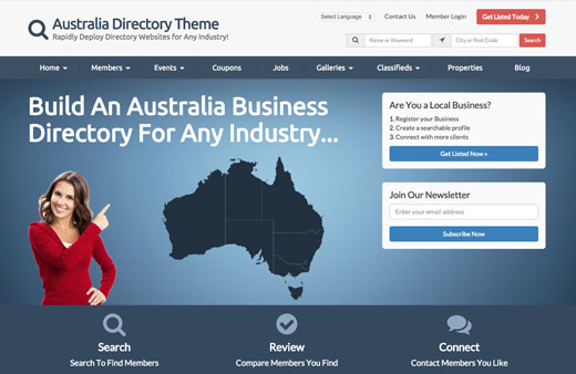 Looking For The Best Australia Directory Theme?