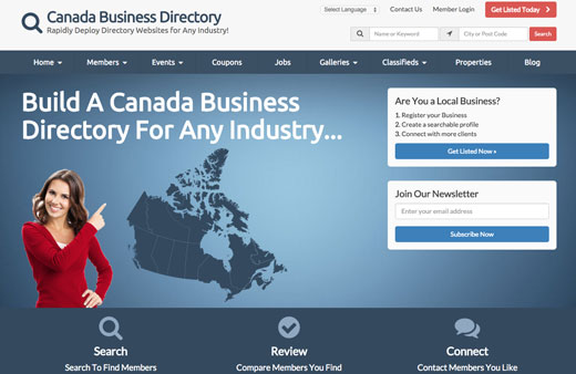 Looking For The Best Canada Directory Theme?
