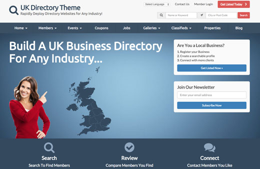 Looking For The Best UK Directory Theme?
