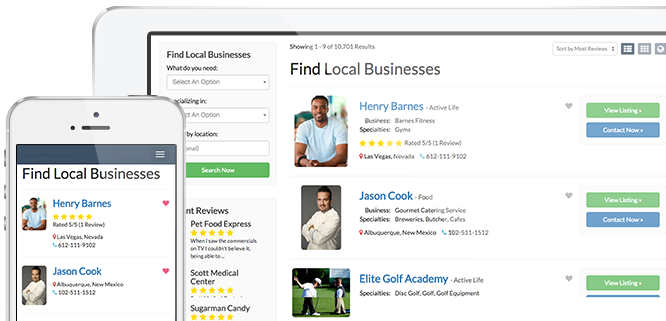 Top business directory template