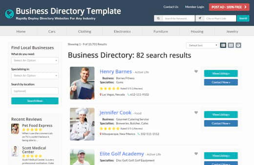 Best website directory template