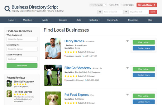 Start Your Own Business Directory Website