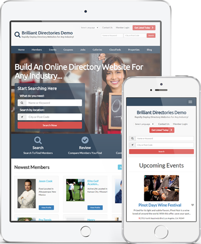 mobile friendly directory website