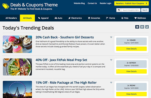 Coupon Search Theme