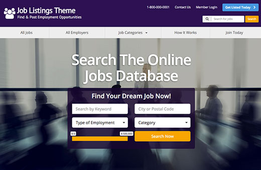 jobs search website theme directory software directory script directory template. Black Bedroom Furniture Sets. Home Design Ideas