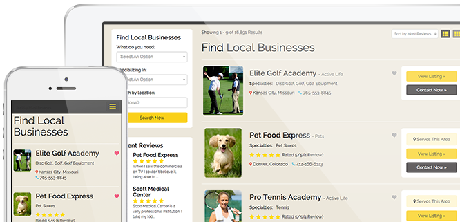 Local Business Directory Website Theme - Directory Software ...