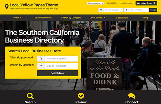 Yellow Pages Theme