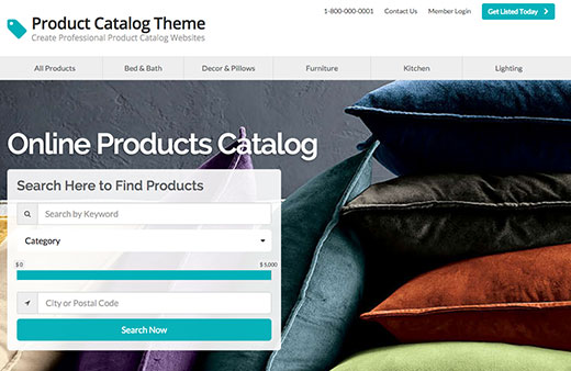 Products Catalog Theme