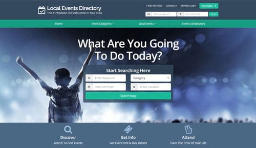 list local events website