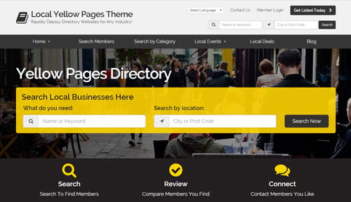 build yellow pages website