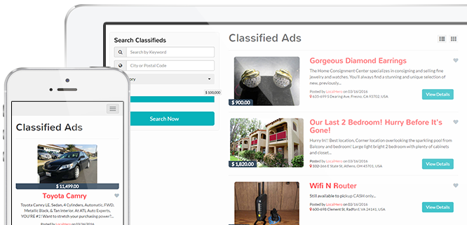 About Classified Ads Theme