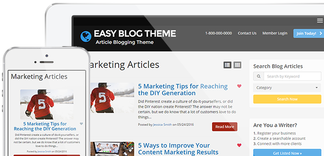 About Articles Website Theme