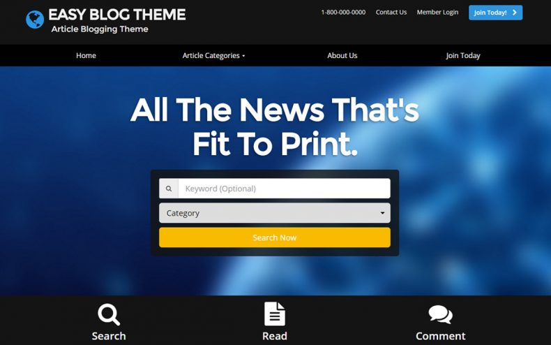 Articles Website Theme