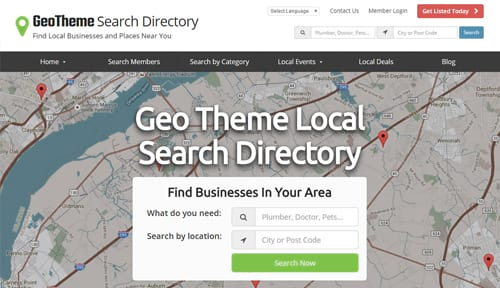 geo theme search directory theme