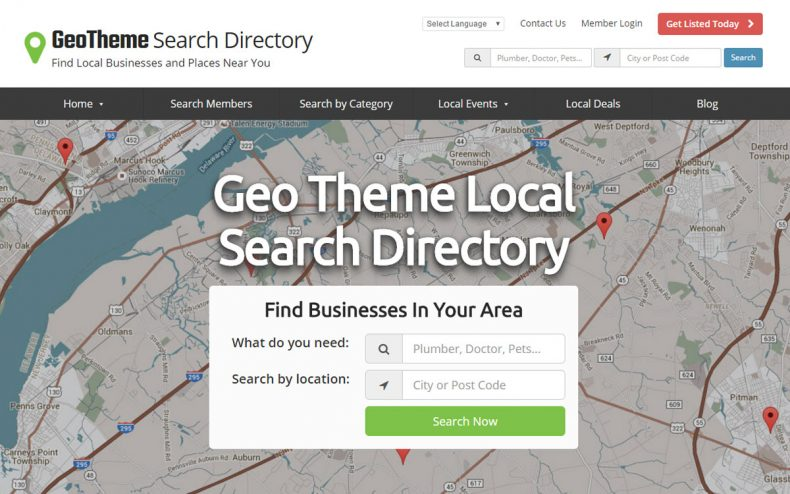 Geo theme search directory website theme directory software geo theme directory gumiabroncs Images