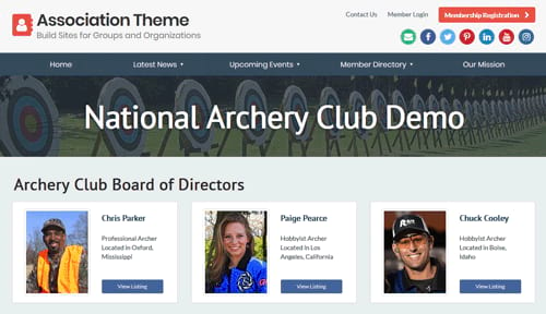 association group website
