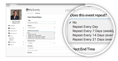 automatic recurring events