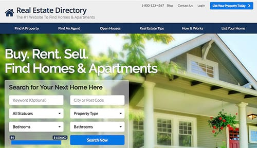 real estate listing website
