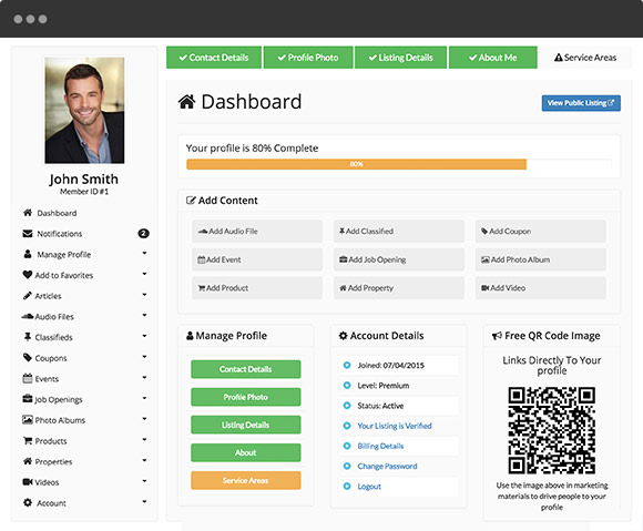Directory Theme - Self-Service Member Dashboard