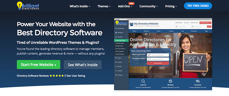 Brilliant Directories Directory Website Theme