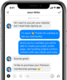 Facebook Website Chat Mobile