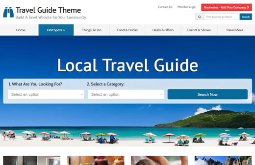 Best Travel Guide Theme