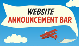 Website Announcement Bar - Website Directory Theme