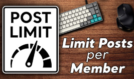 Limit Posts per Member - Website Directory Theme