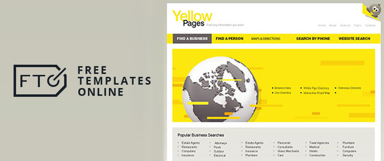 Yellow Pages Free Template