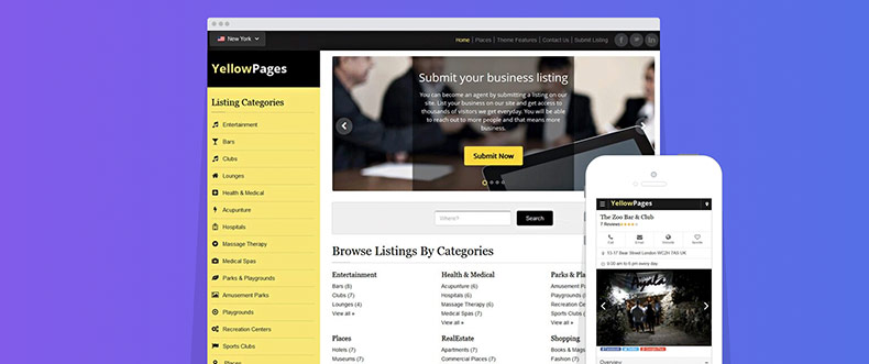 10 Best Yellow Pages Themes for Your Yellow Page Directory ...
