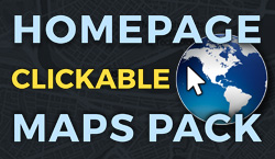 Homepage Clickable Maps Pack - Website Directory Theme