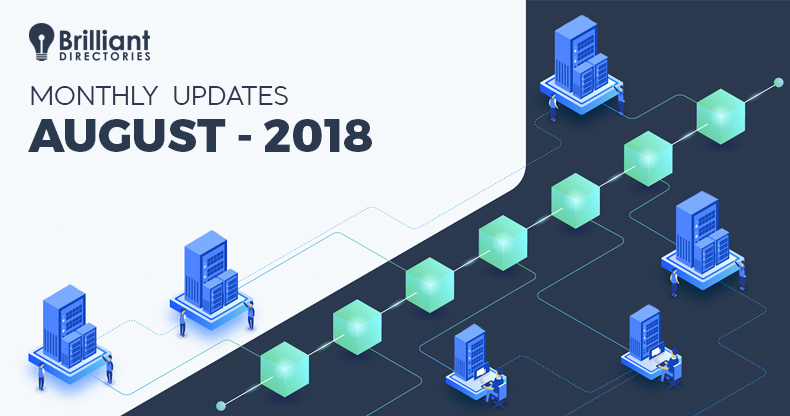 August 2018 – Monthly Changelog
