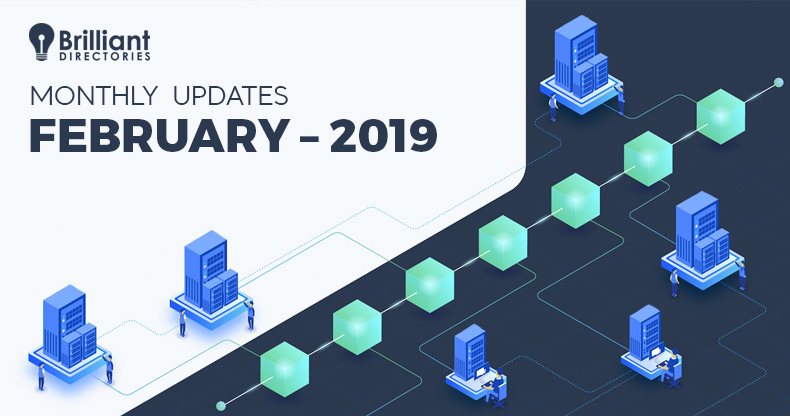 February 2019 – Monthly Changelog