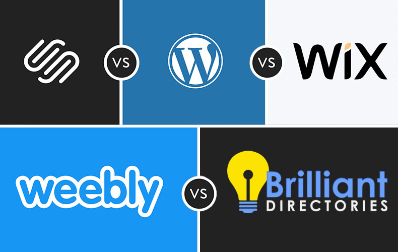 Brilliant Directories vs Wix, Weebly, Squarespace & WordPress