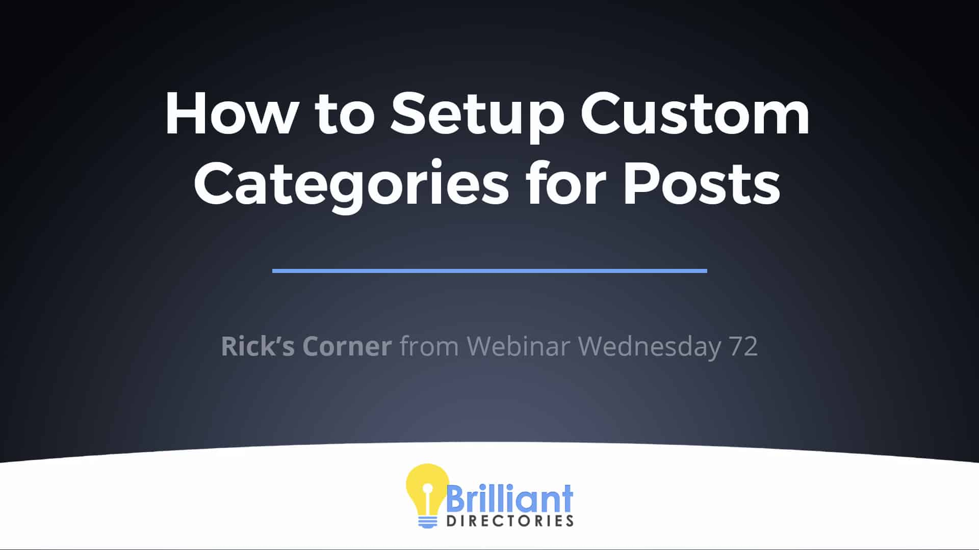 How to Set Up Custom Categories for Posts