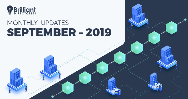 September 2019 – Monthly Changelog
