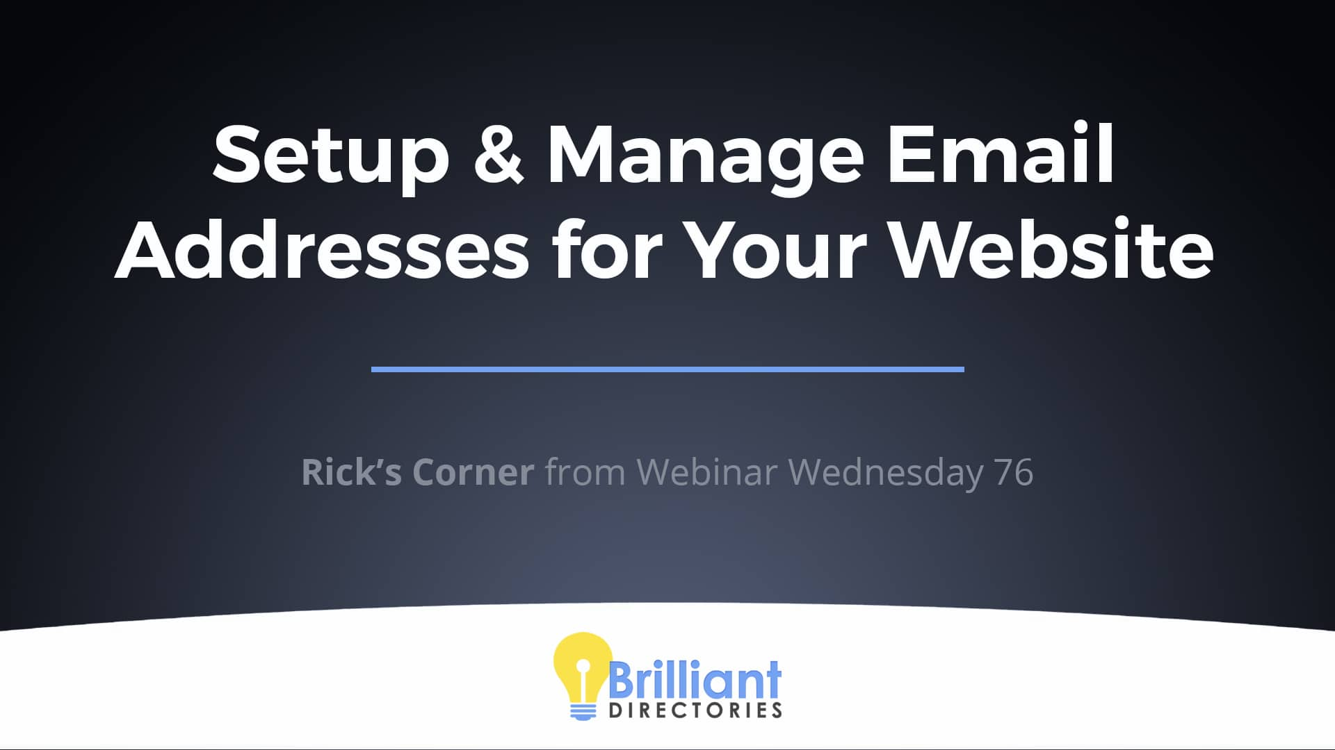 Setup & Manage Email Address for Your Website