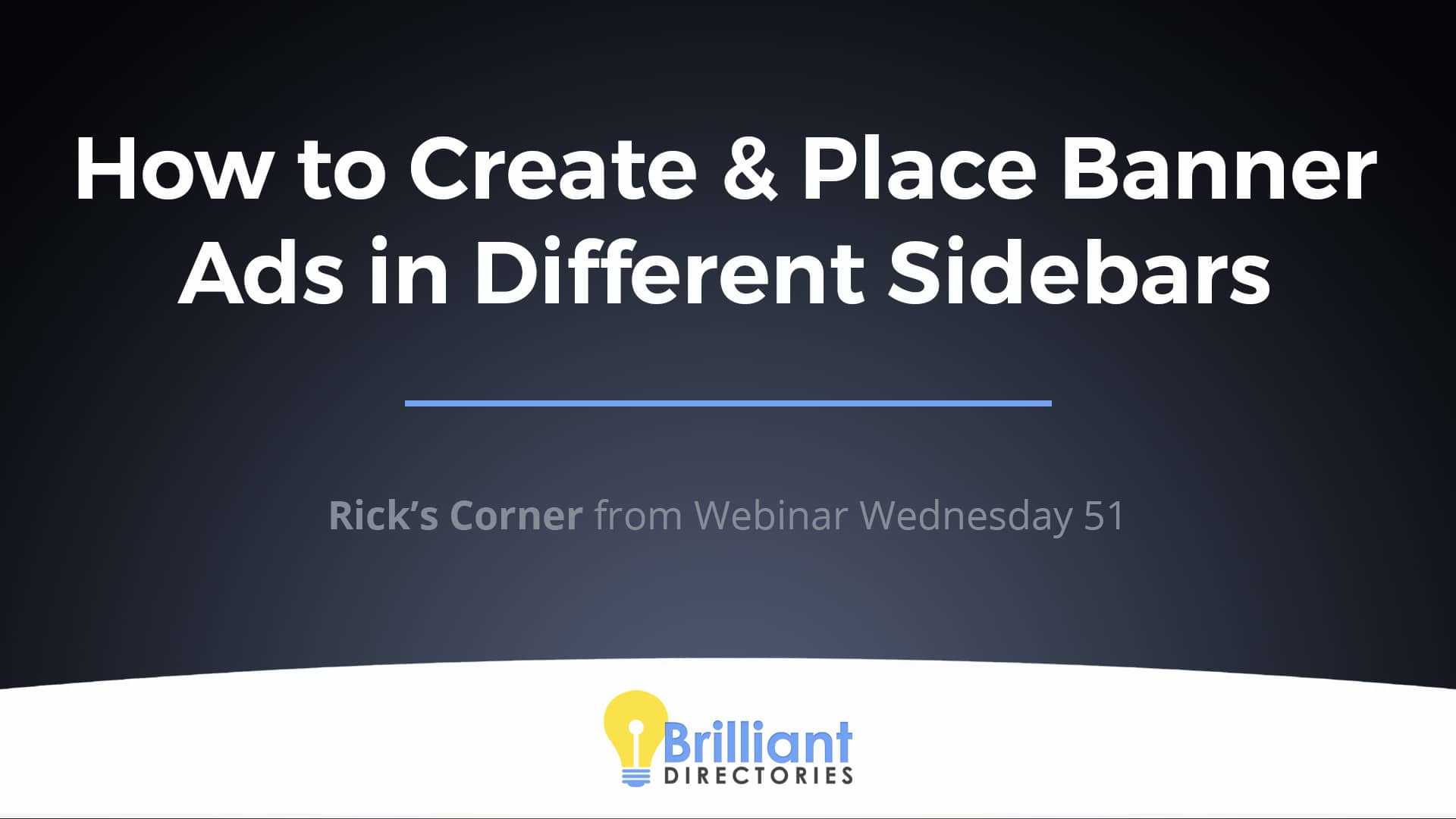 How to Create & Place Banner Ads in Different Sidebars